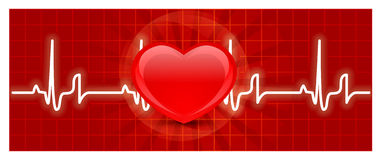 Heart cardiogram Royalty Free Stock Images