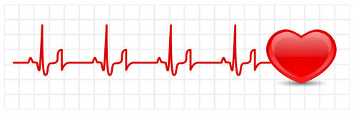 Heart cardiogram Stock Photos