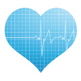 Heart and cardiogram Royalty Free Stock Photography