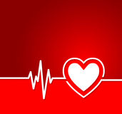 Heart cardiogram with heart shape concept.Useful as background f Royalty Free Stock Photos