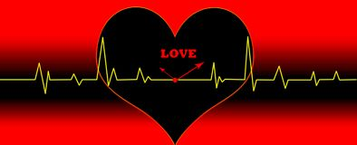 Heart cardiogram illustration concept Royalty Free Stock Image