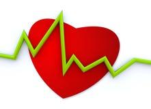 Heart cardiogram Stock Photo