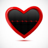 Heart with cardiology Royalty Free Stock Images