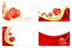 Heart cards Royalty Free Stock Image