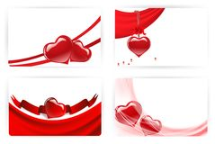 Heart cards Royalty Free Stock Photography