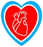 Heart care royalty free illustration