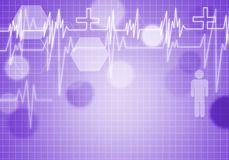 Heart care. Digital background image with heart on color backdrop Royalty Free Stock Images