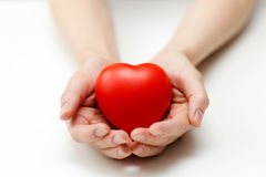 Heart care, health insurance or giving love concept Royalty Free Stock Image