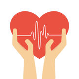 Heart care insurance isolated icon Royalty Free Stock Photos