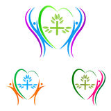 Heart care people Royalty Free Stock Images