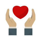 Heart care symbol vector illustration. Royalty Free Stock Photo