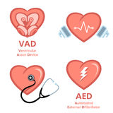 Heart care symbols Royalty Free Stock Images