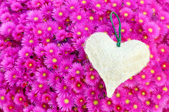 A heart on a carpet of flowers Stock Image