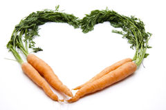 Heart from carrots Stock Photo