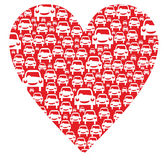 Heart with cars Stock Photography