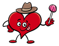 Heart cartoon character Royalty Free Stock Images