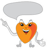 Heart cartoon character speech bubble Stock Images