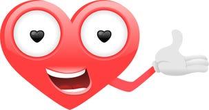 Heart cartoon character 2 Royalty Free Stock Photos