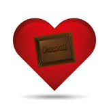heart cartoon chocolate bar sweet icon design Royalty Free Stock Image