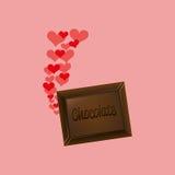 heart cartoon chocolate bar sweet icon design Stock Photos
