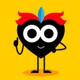 Heart Cartoon Mascot Character Stock Photography