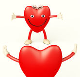 Heart Cartoon Showing Love Stock Photos