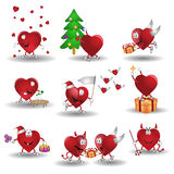Heart cartoon valentine. There are hearts cartoon heroes Stock Images