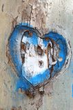 Heart Carved in the Bark of a Tree Stock Image