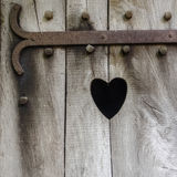 Heart carved in wood Royalty Free Stock Image