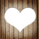 Heart carved on a wooden surface Stock Images