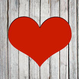 Heart carved on a wooden surface Royalty Free Stock Images