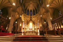 Heart of cathedral. Heart of Saint Patric's cathedral , New York City Royalty Free Stock Photography