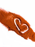 Heart in cayenne Stock Photos