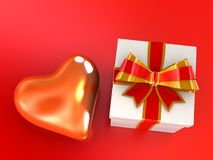 Heart in a celebratory box on Royalty Free Stock Photo