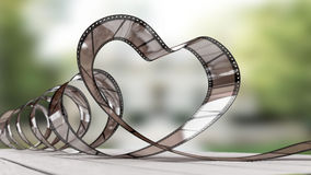 Heart of celluloid. 3d render Royalty Free Stock Images
