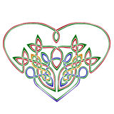 Heart in celtic style stock photography