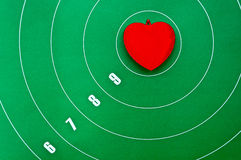 Heart in the center of the target Royalty Free Stock Photography