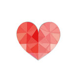 Heart at central. Color of red heart, this is designed on gradient of white background Royalty Free Stock Photo
