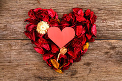 Heart in centre of red potpourri heart - Series 2 Stock Photography