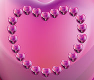 Heart chain Royalty Free Stock Images