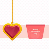 Heart On a Chain Baner Royalty Free Stock Image