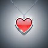 Heart on chain. jewellery decoration Royalty Free Stock Photography
