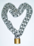 Heart chain and lock Stock Photography