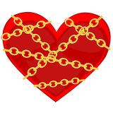 Heart in chain Stock Photo