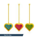 Heart On a Chain Royalty Free Stock Photo