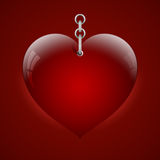 Heart on chain Stock Photos
