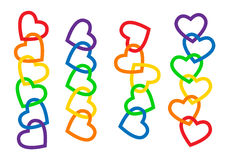 Heart chains Stock Image