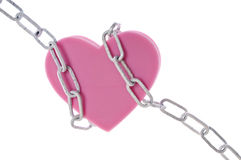 Heart in Chains Royalty Free Stock Photos