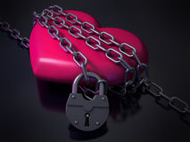 Heart in chains royalty free stock photography