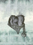 Heart in chains Stock Photo